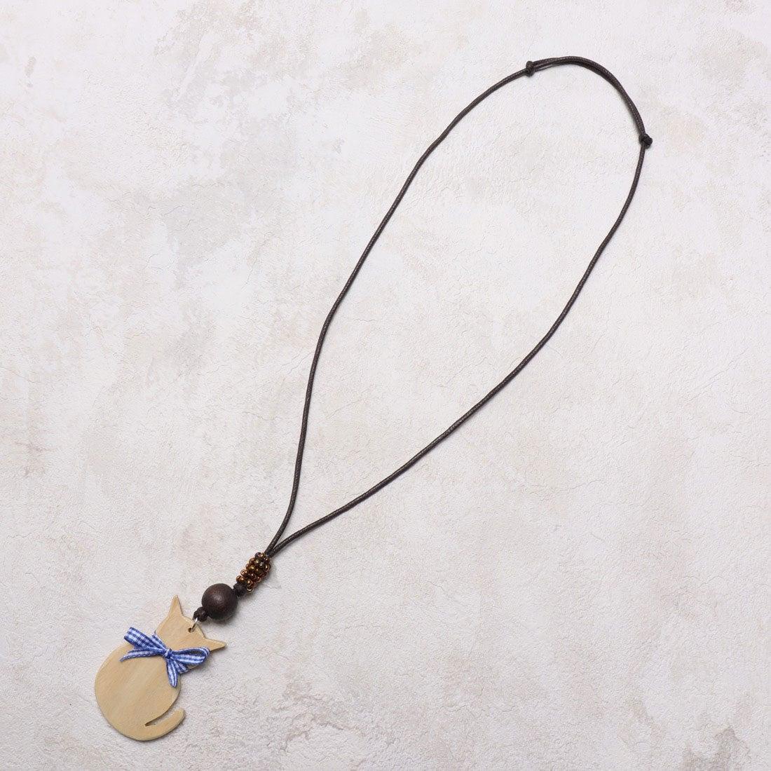 ロコンド 靴とファッションの通販サイトカンカン KANKAN かわいいネコトップネックレス (ナチュラル)