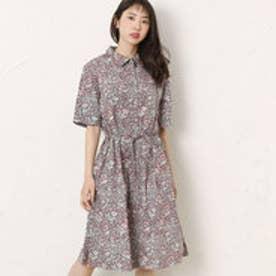 カンカン KANKAN フローラルプリントシャツドレス (ブラック)