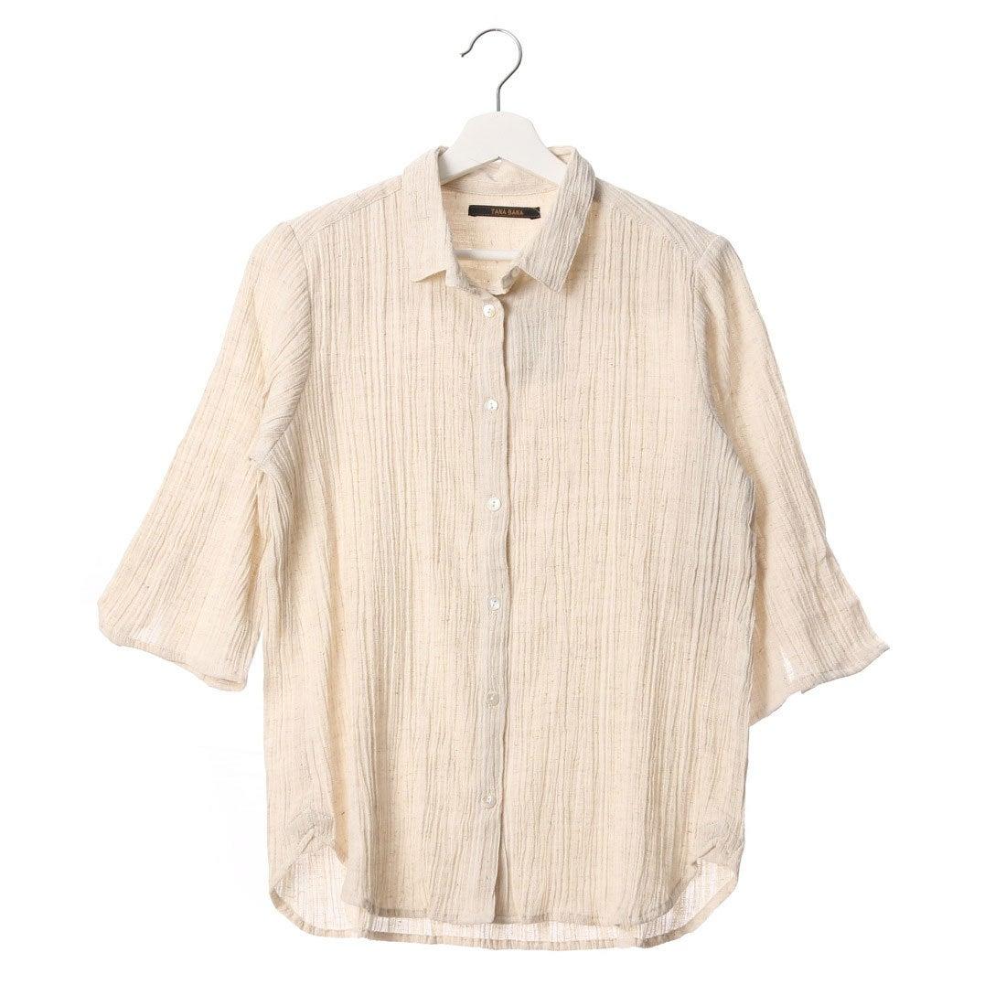 【SALE 50%OFF】カンカン KANKAN ドビークレープシャツ (ナチュラル)