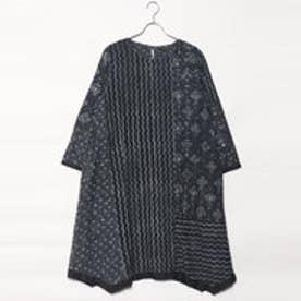 カンカン KANKAN ダブプリントパッチドレス (ブラック)