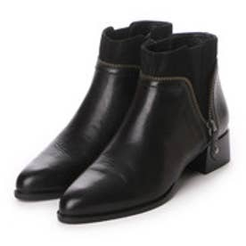 プールサイド POOL SIDE サイドジップショートブーツ (ブラック)