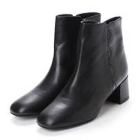 プールサイド POOLSIDE ジオメトリーショートブーツ (ブラック)
