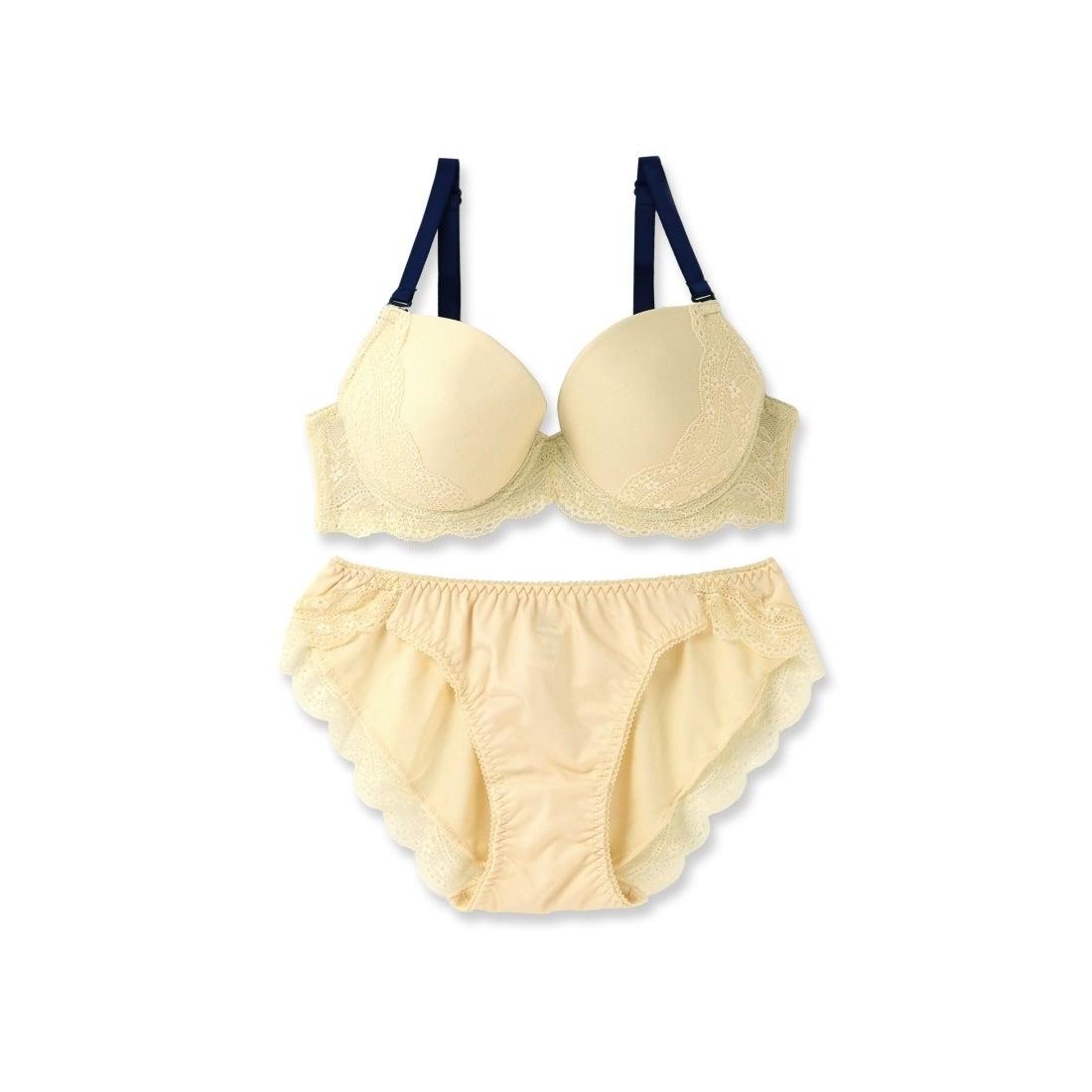 4803a3ed61716 フランデランジェリー fran de lingerie NudyBasic-fill-ヌーディーベーシックフィルブラ&ショーツセットB-Gカップ  (クリーム)-レディースファッション通販 ...