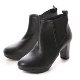 キスコ KISCO 【羊革】サイドゴアヒール高ブーツ (ブラック)
