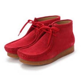 アンティバ ANTIBA ANTIBA AN0027/レディースワラビーブーツ 本革スエード撥水加工 雨でも安心 (レッド) (RED)