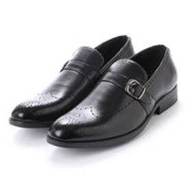 エニーウォーク Anywalk 紳士 モンクストラップ ビジネスシューズ〈クラシコイタリア〉・aw_16143 (BLACK)