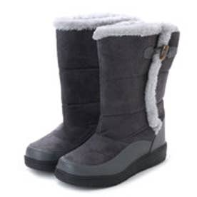 エニーウォーク Anywalk 防寒ブーツ ムートン調素材・フェイクファー付き 保温効果の高い素材使用・aw_17689(グレー) (GRAY)