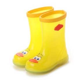 ジョリーウォーク Jolly Walk レインシューズ 柔軟性 防滑パターンアウトソール つま先キャラクター JWQ06 (Yellow)