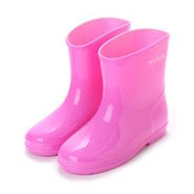 ケーズプラス K's PLUS 無地 シンプル レインシューズ スリップ防止 15cm-19cm キッズ,ジュニアベビー,男の子,女の子,長靴,レインブーツ,子供 (PINK)