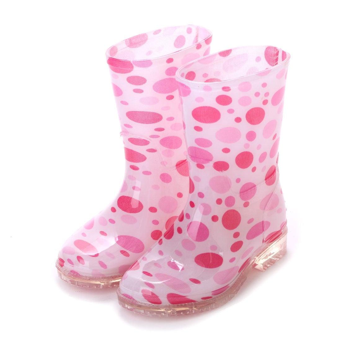 ロコンド 靴とファッションの通販サイトケーズプラス K's PLUS かわいい シャワー ドット レインシューズ