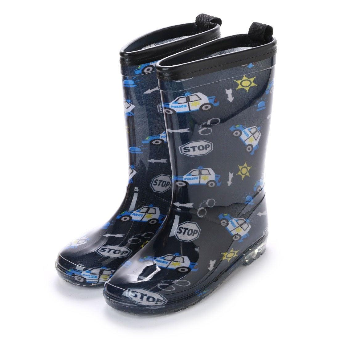 ロコンド 靴とファッションの通販サイトケーズプラスK'sPLUS総柄レインシューズスリップ防止16cm-24cmキッズ,ベビー,男の子,パトカー,女の子,ハート,長靴,レインブーツ,子供(NAVY)