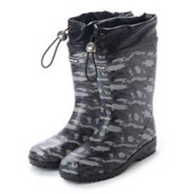 ケーズプラス K's PLUS キッズ ジュニア 巾着型 レインブーツ レインシューズ (GRAY camouflage)