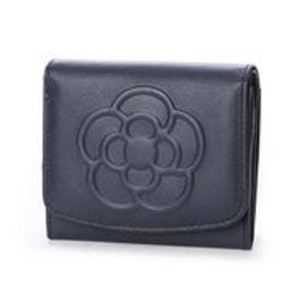 クレイサス CLATHAS ワッフル BOX小銭入れ付き折り財布 (ネイビー)