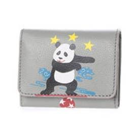 ケイタマルヤマ アクセサリーズ KEITAMARUYAMA accessories パンダ 2つ折り財布 (グレー)
