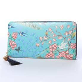 ケイタマルヤマ アクセサリーズ KEITAMARUYAMA accessories オリエンタル 長財布ラウンドファスナー (ブルー)