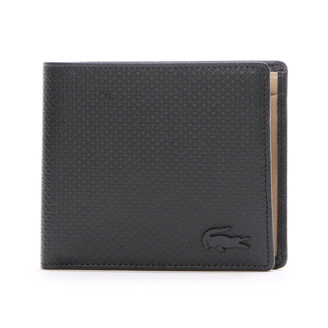 ラコステLACOSTECHANTACOMEN2つ折り財布(ブラック)