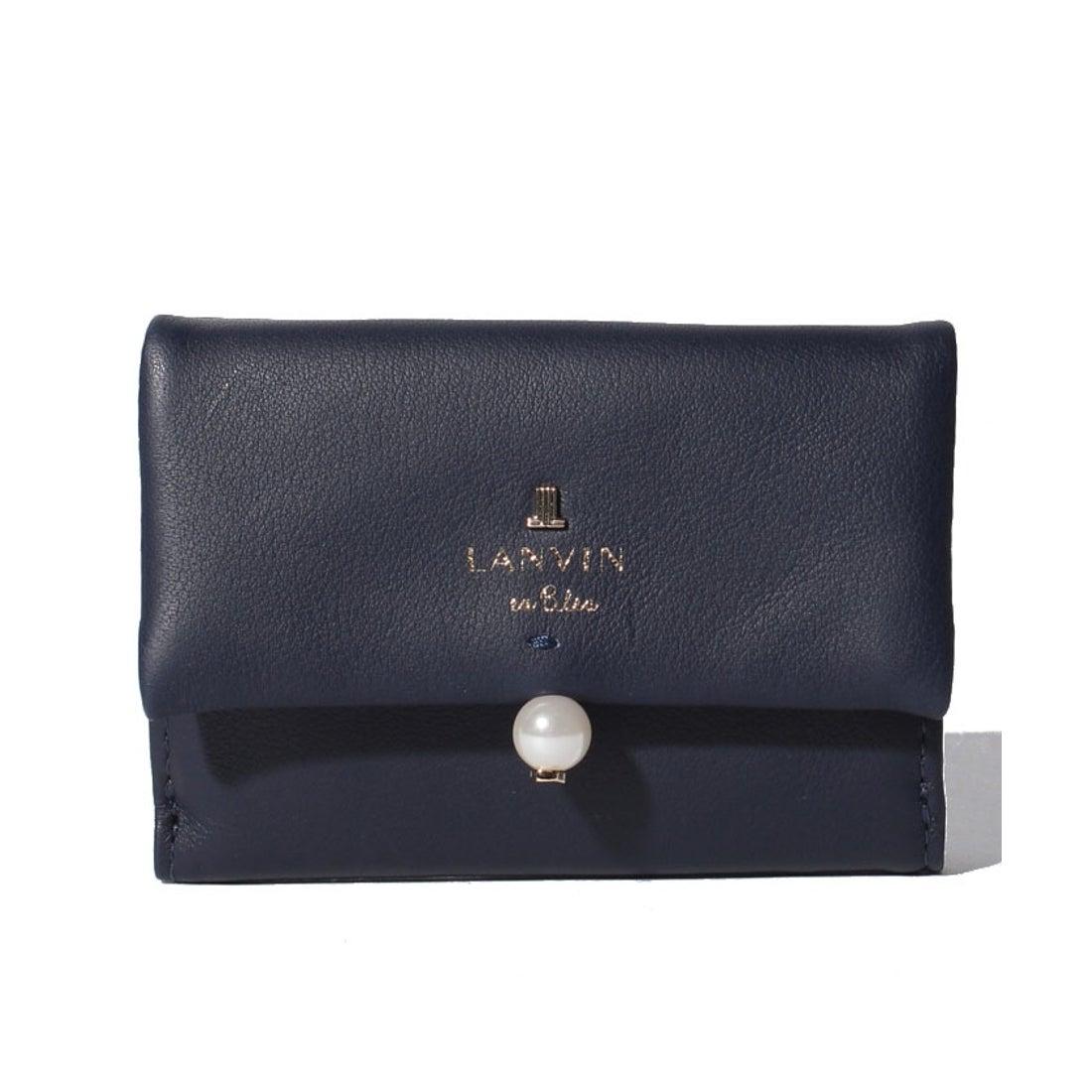b2f8da658260 ランバン オン ブルー LANVIN en Bleu シャペル 3つ折りミニ財布 (ディープブルー) -靴&ファッション通販  ロコンド〜自宅で試着、気軽に返品