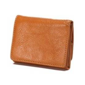 カナザワイチキュウロクイチ Kanazawa1961 ベジタブルレザー コンパクト三つ折り財布(キャメル)