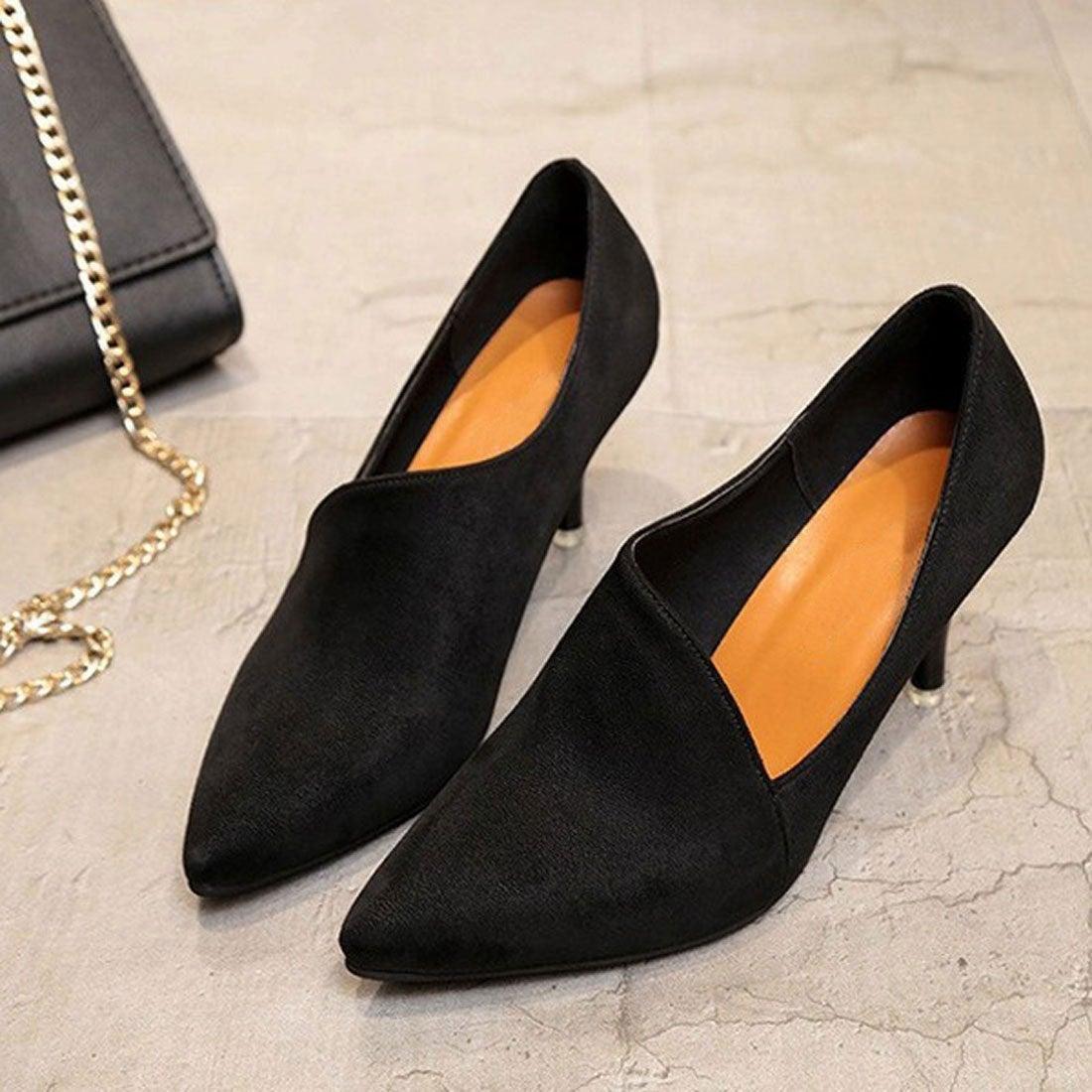 35c35c02c881c チュクラ chuclla アシンメトリーカット スエード調 パンプス (ブラック(スエード調)) -靴&ファッション通販 ロコンド〜自宅で 試着、気軽に返品