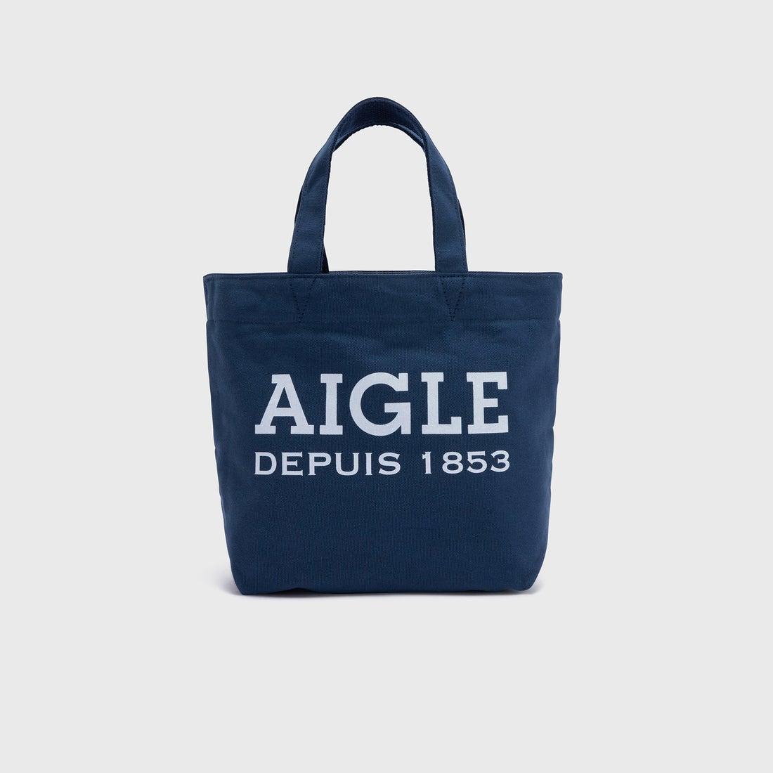 エーグル AIGLE コットンキャンバスミニトート (ダークネイビー)