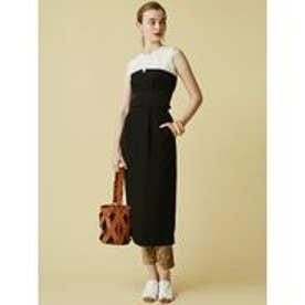 LAGUNAMOON ウエストリブベアタイトスカート(ブラック)