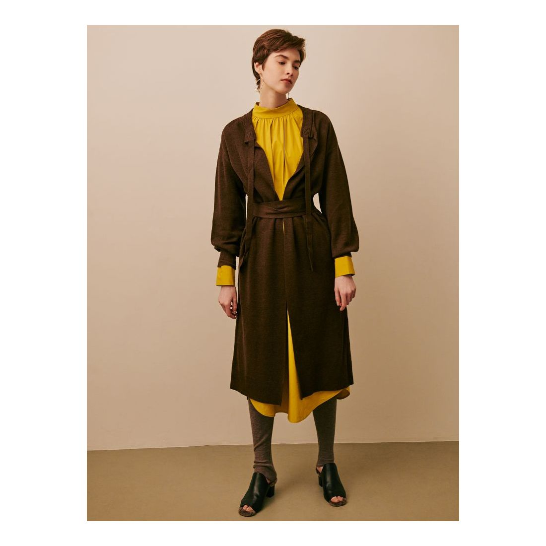 2ee66abd92216 LAGUNAMOON コットンロングシャツワンピース(イエロー) -靴&ファッション通販 ロコンド〜自宅で試着、気軽に返品