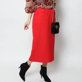 リリーブラウン Lily Brown バックスリットポンチスカート (レッド)