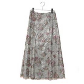 リリーブラウン Lily Brown スパンコールマーメイドスカート (オフホワイト)