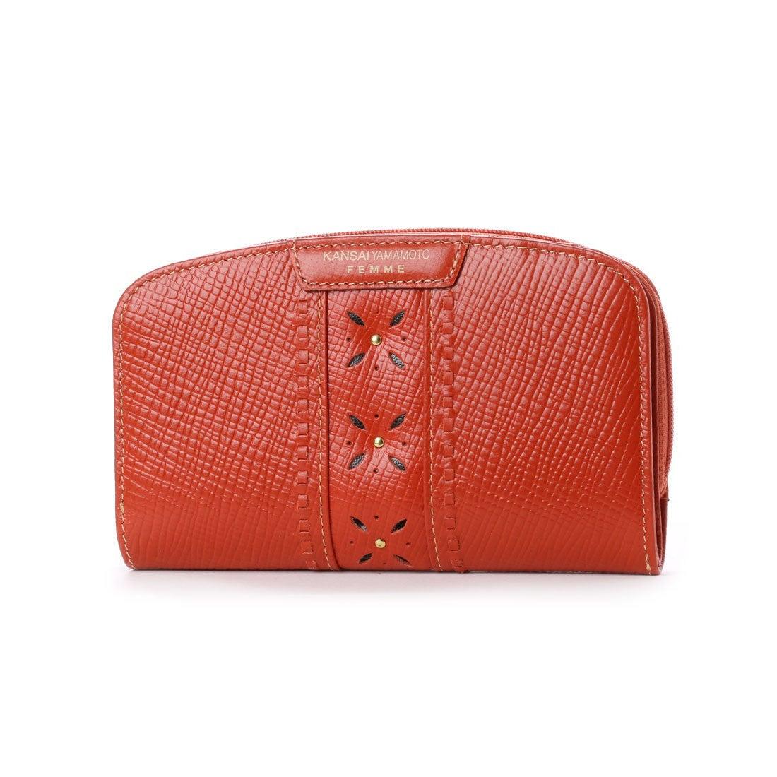 ce95fea57aa0 カンサイ ヤマモト ファム KANSAI YAMAMOTO FEMME ラウンドファスナー2つ折財布 (オレンジ) -靴&ファッション通販  ロコンド〜自宅で試着、気軽に返品