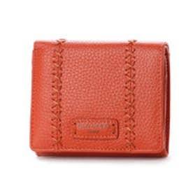 カンサイ ヤマモト ファム KANSAI YAMAMOTO FEMME ボックス型小銭入れ2つ折財布 (オレンジ)