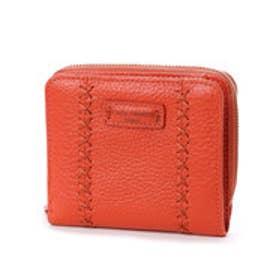 カンサイ ヤマモト ファム KANSAI YAMAMOTO FEMME ラウンドファスナー2つ折財布 (オレンジ)
