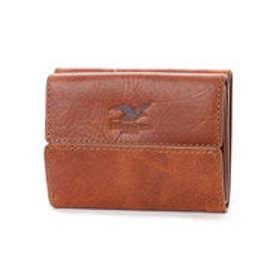 ウィリスアンドガイガー Willis&Geiger コンパクト三つ折財布 (ブラウン)