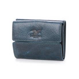 ウィリスアンドガイガー Willis&Geiger コンパクト三つ折財布 (ネイビー)