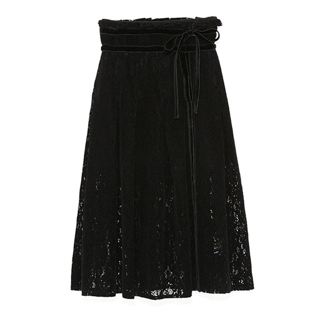 【訳あり商品】 リリーブラウンアウトレット Lily Brown OUTLET フロッキーラップ風スカートパンツ(BLK)