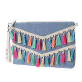 リトルアクセサリーズ LITTLE accessories レインボーフリンジショルダー&クラッチ (ブルー)