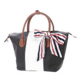 リトルアクセサリーズ LITTLE accessories バッグ用スカーフ付き素材コンビ2wayショルダー (ブラック)