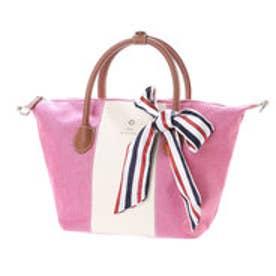 リトルアクセサリーズ LITTLE accessories 【LITTLE ACCESSORIES リトルアクセサリーズ】バッグ用スカーフ付き素材コンビ2wayショルダー (ピンク)
