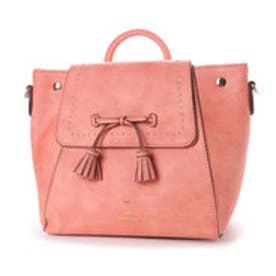 リトルアクセサリーズ LITTLE accessories スタッズ使いフリンジリボン2wayタウンリュック (ピンク)