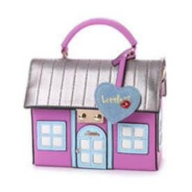 リトルアクセサリーズ LITTLE accessories 【LITTLE ACCESSORIES リトルアクセサリーズ】ハウス(家)デザイン2wayバッグ (パープル)
