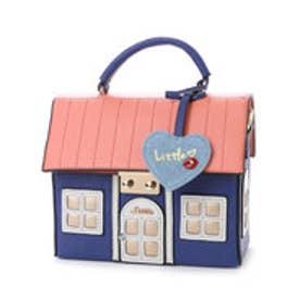 リトルアクセサリーズ LITTLE accessories 【LITTLE ACCESSORIES リトルアクセサリーズ】ハウス(家)デザイン2wayバッグ (ブルー)