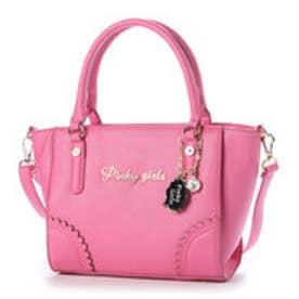 ピンキーガールズ Pinky Girls 【Pinky Girls ピンキーガールズ】レザー調合皮2WAYカレントバッグ (ピンク)
