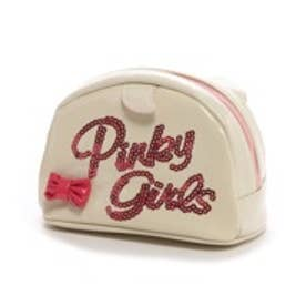 ピンキーガールズ Pinky Girls ピンキーガールズ/ねこ耳つきキャットモチーフポーチ(ホワイト)