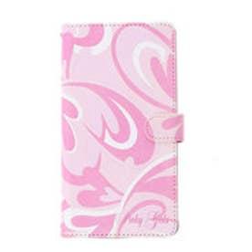 ピンキーガールズ Pinky Girls 【Pinky Girls ピンキーガールズ】ハートモチーフマーブル柄スマートフォンケース(Lサイズ) (ピンク)