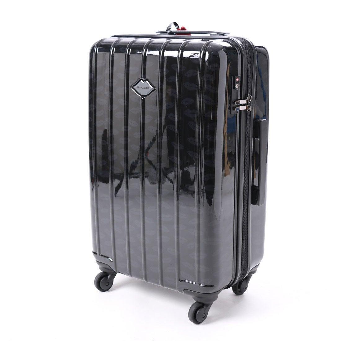 スパイラルガール SPIRAL GIRL 【SPIRALGIRLスパイラルガール】スーツケース 50L拡張機能付トラベルハードキャリー (ブラック) レディース