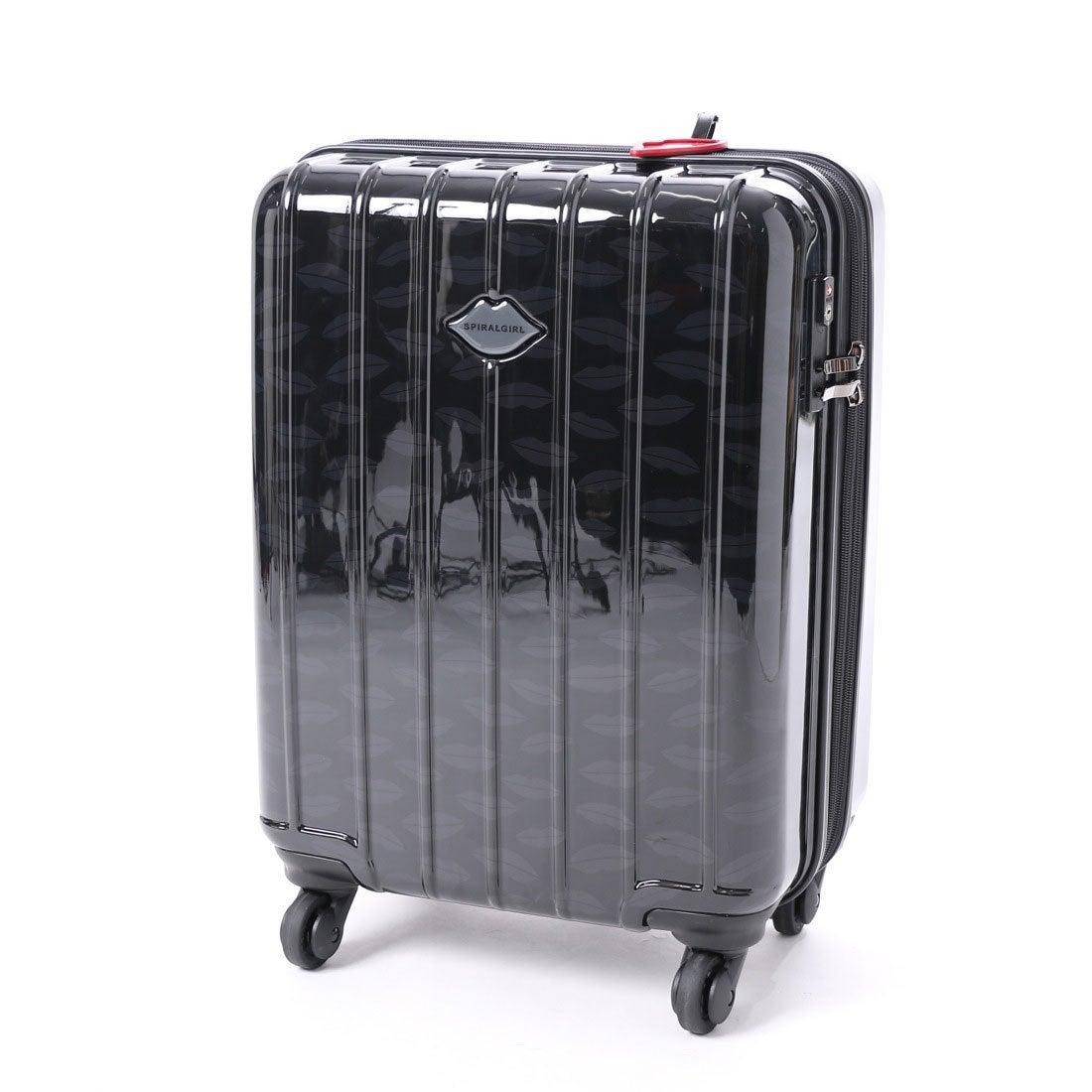 スパイラルガール SPIRAL GIRL 【SPIRALGIRLスパイラルガール】スーツケース 36L拡張機能付トラベルハードキャリー (ブラック) レディース