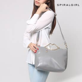 スパイラルガール SPIRAL GIRL 【SPIRALGIRLスパイラルガール】リップハンドル2WAYスタイルバッグ (グレー)