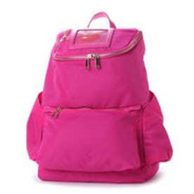 スパイラルガール SPIRAL GIRL ロゴ入ICカードケース付き軽量リュックサック (ピンク)