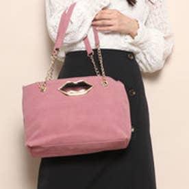 スパイラルガール SPIRAL GIRL くちびる抜き手合皮スェード2WAYバッグ (ピンク)