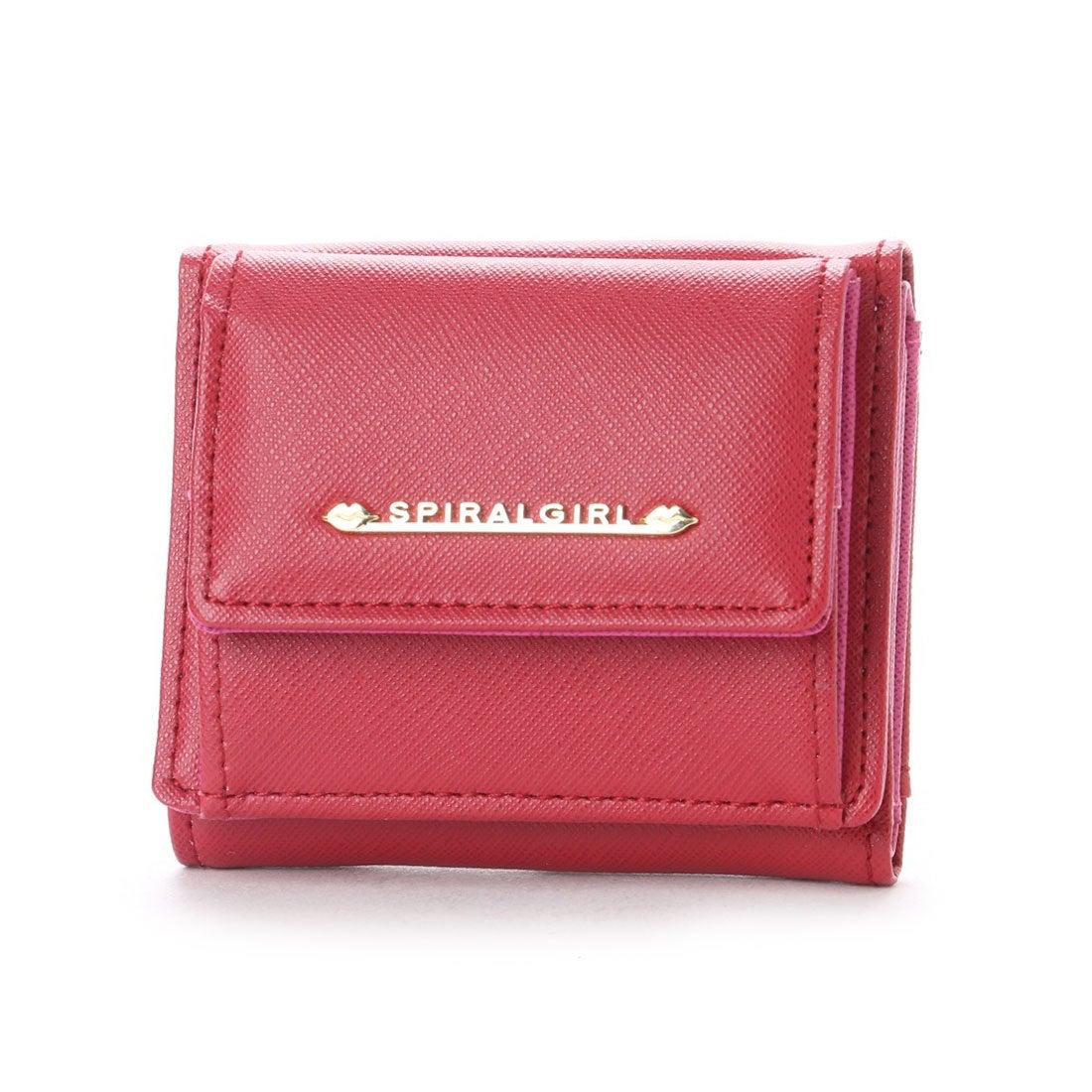 06e73381a4d0 スパイラルガール SPIRAL GIRL シンプルライン3つ折り財布 (レッド) -レディースファッション通販 ロコンドガールズコレクション  (LOCONDO GIRL'S COLLECTION)