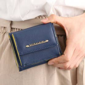 【SPIRALGIRLスパイラルガール】シンプルライン3つ折り財布 (ネイビー)